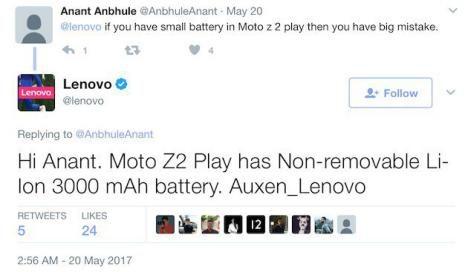 rumores del Moto Z2 Play