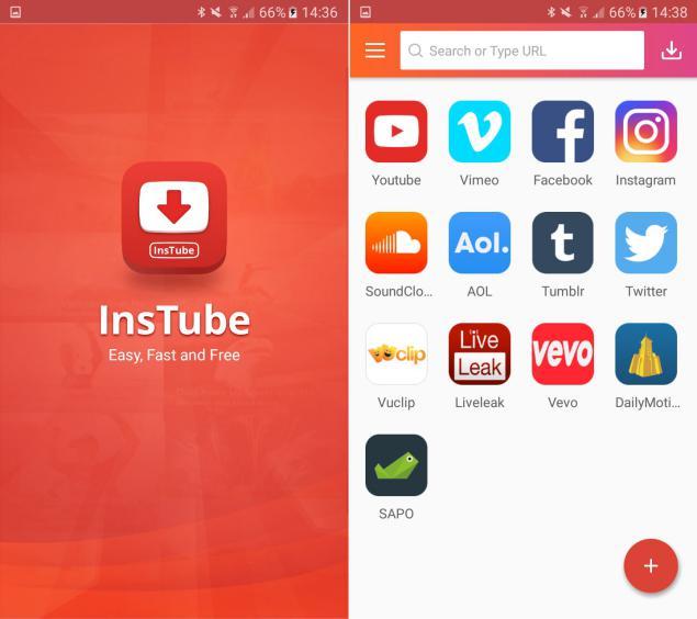 InsTube para descargar videos de youube gratis