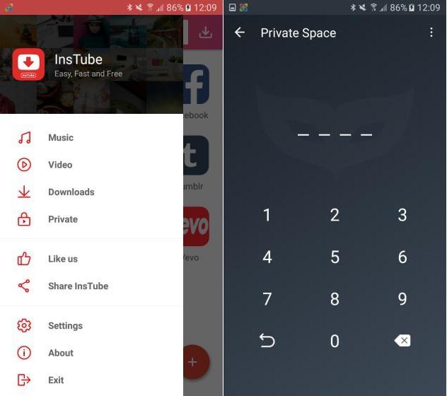 ocultar videos favoritos en Android