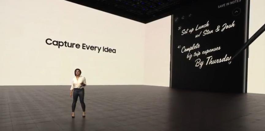 Galaxy Note 8 en su Unpacked 2017: Ahora sus más recientes mensajes