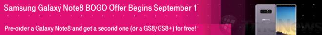 Promocion BOGO Samsung Galaxy Note 8