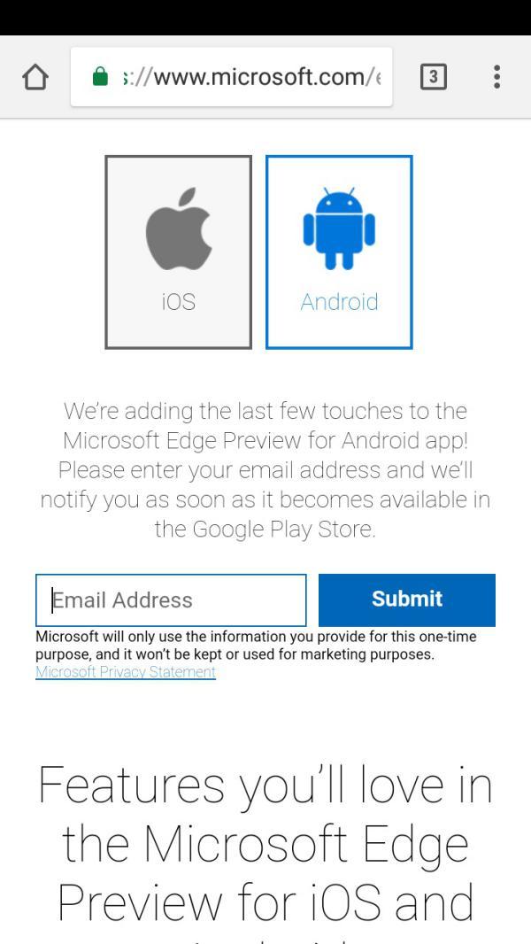 descargar Microsoft Edge en Android
