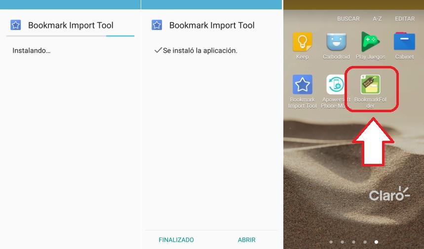 Bookmark Folder importar marcadores
