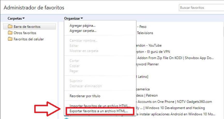 Bookmark Folder importar marcadores del PC a Android
