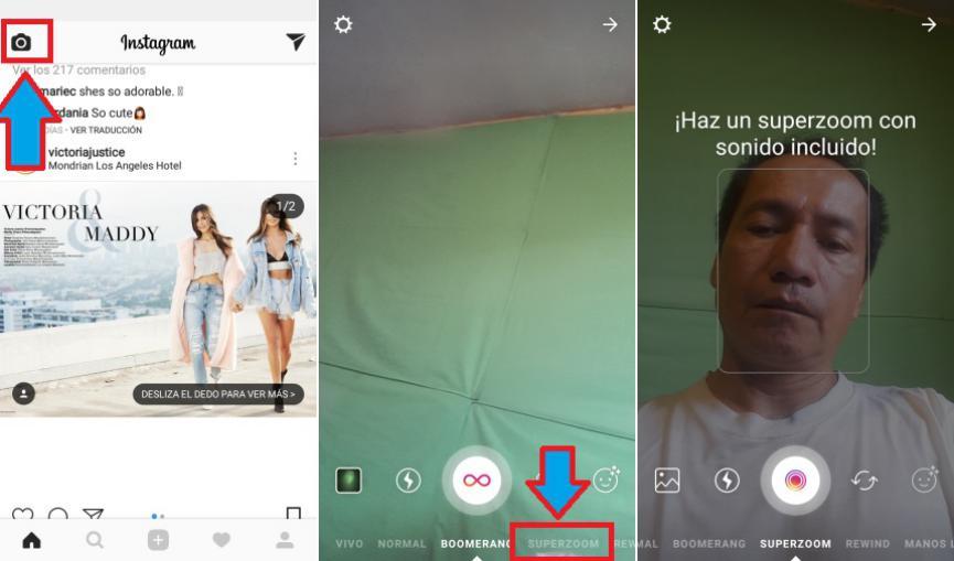 Como usar el SuperZOOM de Instagram