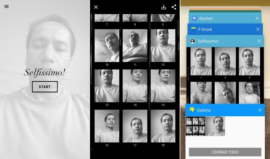 Selfissimo aplicacion para selfies