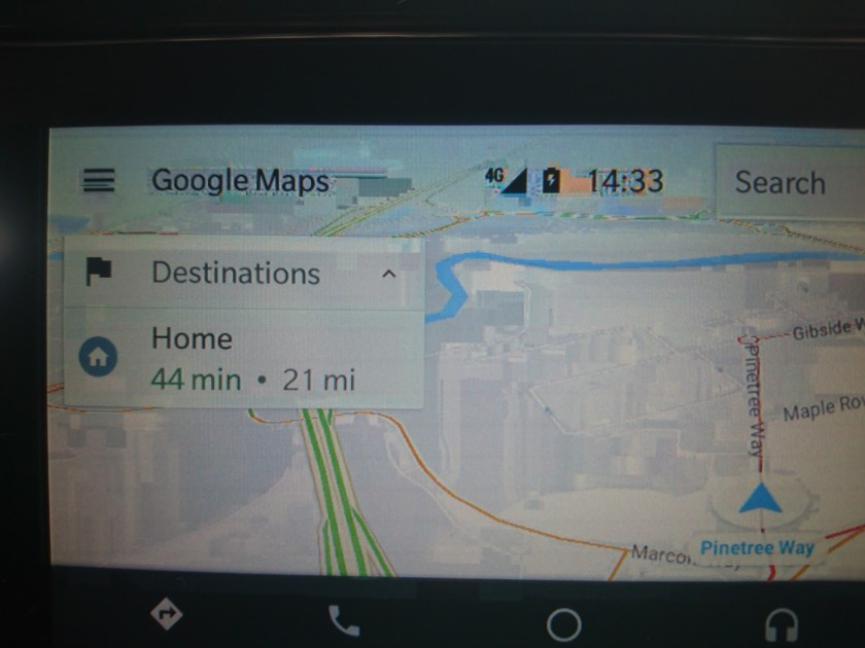Android Auto muestra una interfaz demasiado pixelada dífcil de reconocer