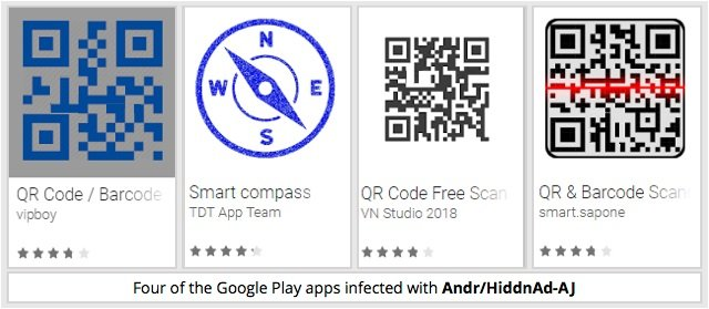 apps qr con malware en Google Play Store