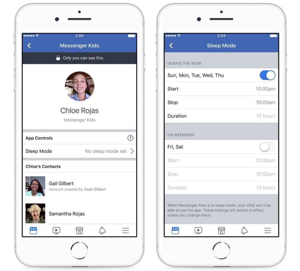 Facebook Messenger Kids control parental