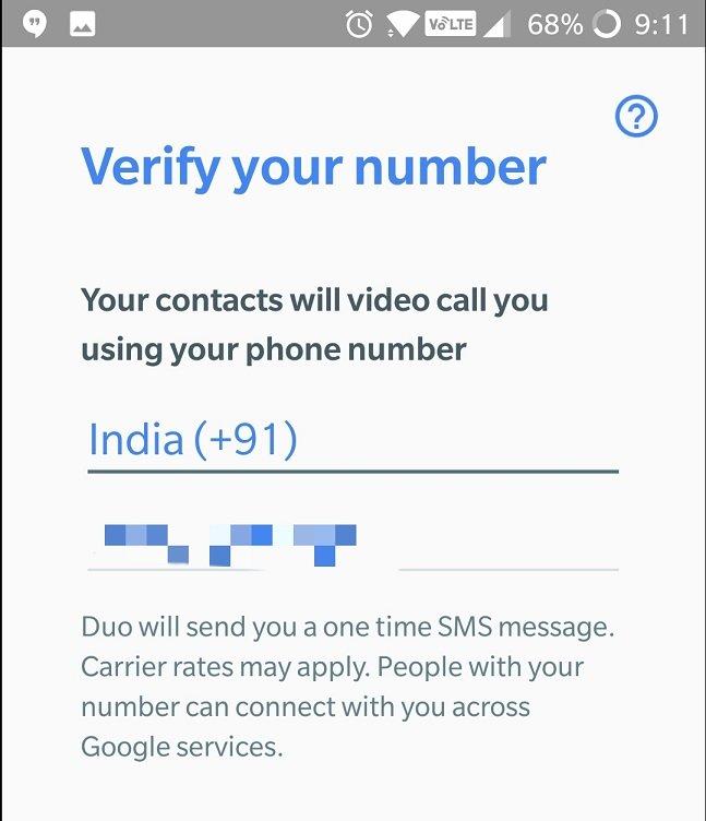 Google DUO con cualquier numero de teléfono
