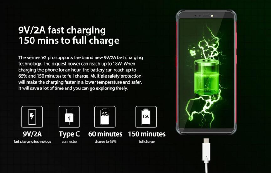 Vernee V2 Pro bateria de gran potencia