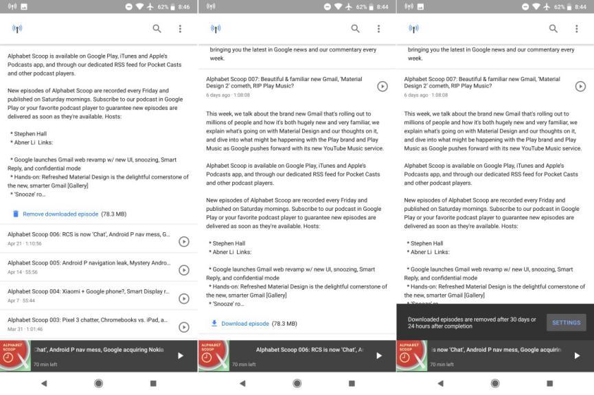 descargar podcats gratis en Android con Google App