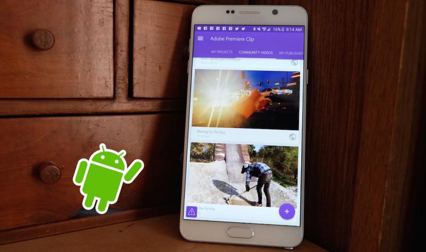 Adobe Premiere en Android: Pronto podrás editar profesionalmente en el Tablet