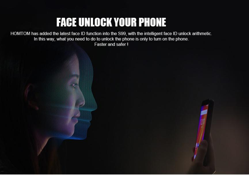 HomTom S99 reconocimiento facial