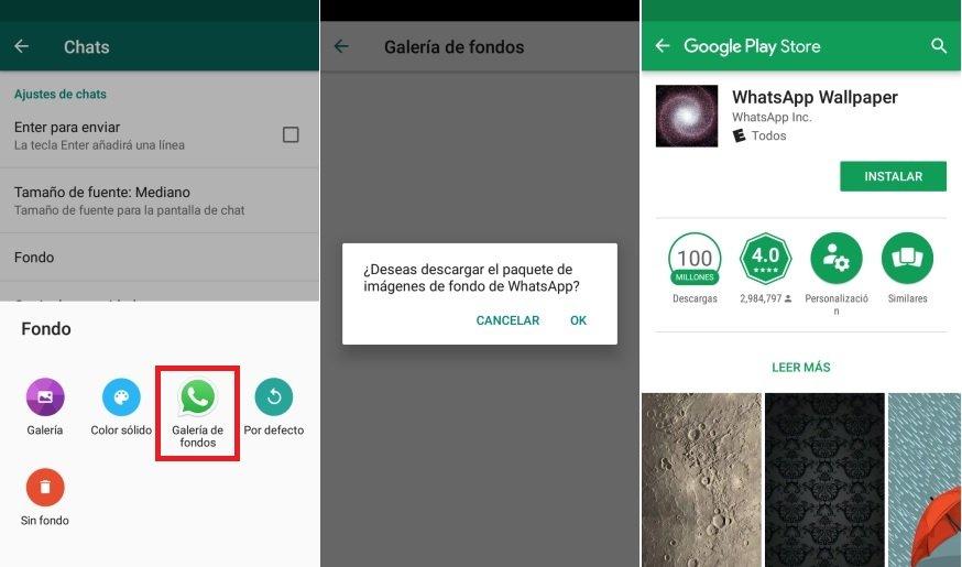 cambiar fondo del Chat en WhatsApp Android