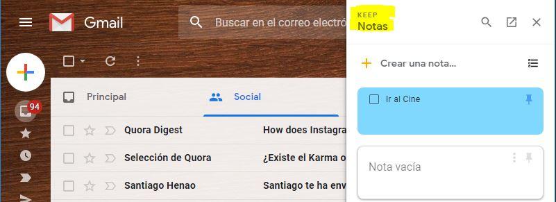 Keep Notas en Android