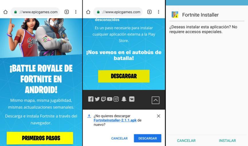 Instalar FortNite en Android sin invitacion