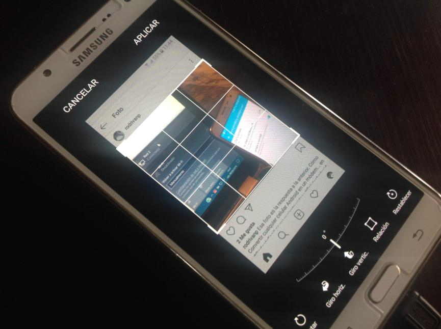 capturar fotos o historias de instagram