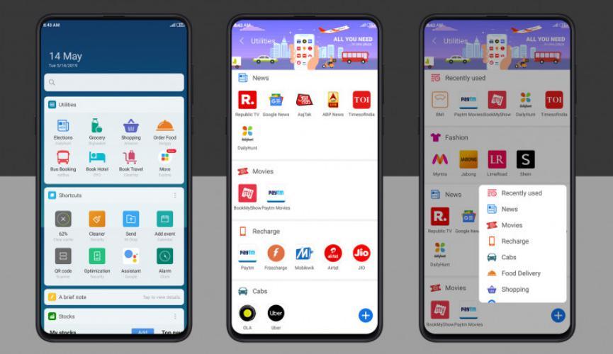 Nueva App Xiaomi crea más de 40 servicios importantes en un widget