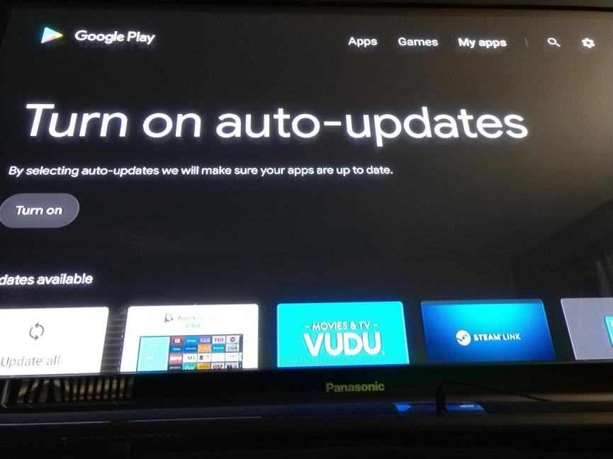 Google Play en Android TV