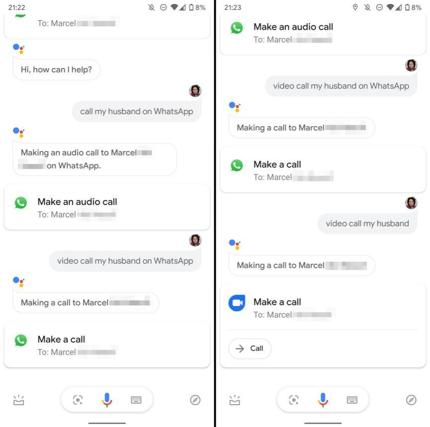 WhatsApp y Asistende de Google 02