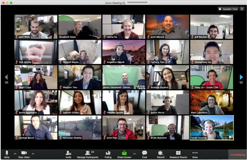 Usando videollamadas grupales gratis con Zoom