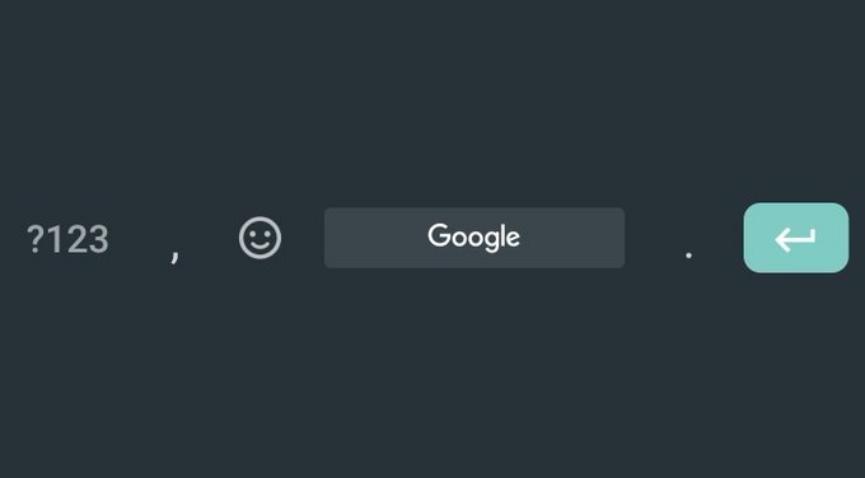 Teclado de Google (GBoard) retira su logo de la Barra Espaciadora
