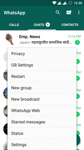 """How to [show older]/fake """"last seen on"""" in Whatsapp"""