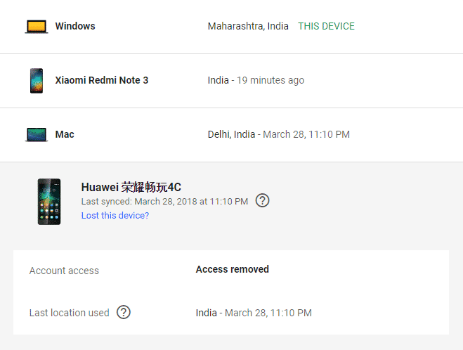 Delete Old Devices From My Google Account