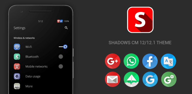 Shadows CM12 Theme