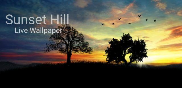 Sunset Hill Pro Live Wallpaper