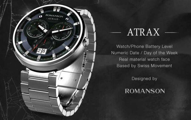 Atrax watchface by Romanson