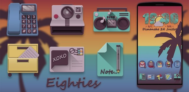 Eighties fun icon pack