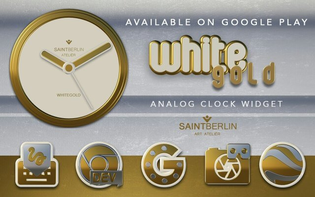 Icon Pack White Gold 3D