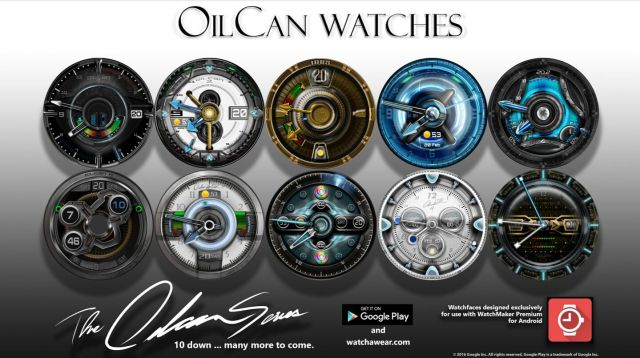 Oil can x2 Thunder Watch Face