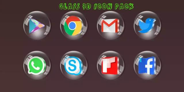 Glass 3D Icon Pack