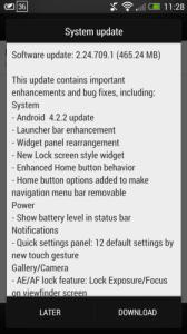 HTC One OTA Jelly Bean 4.2.2 Update