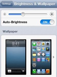 iPhone 5 Brightness And Wallpaper