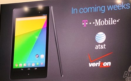 Nexus 7 LTE carriers
