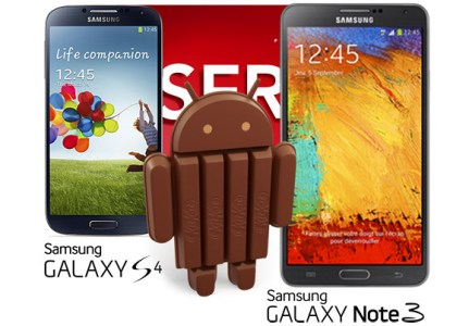 Galaxy S4 and Note 3 Android 4.4 Update