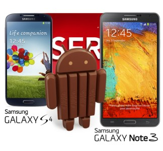 Galaxy S4 and Note 3 Are Ready for Android 4.4 KitKat in UK