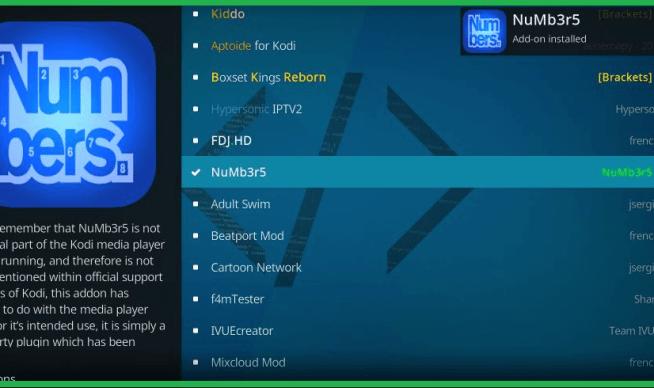 Best Kodi Addons 2020 list no 3 Numbers