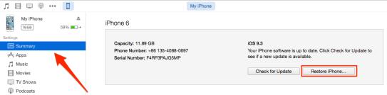 downgrade iOS 10
