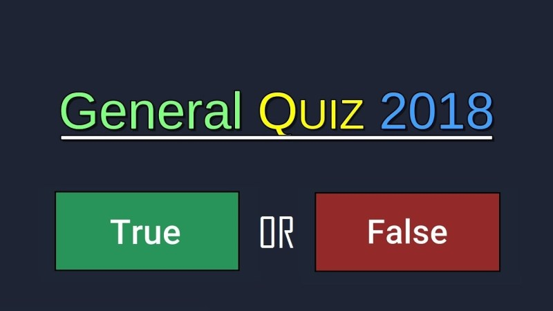 General Quiz 2018
