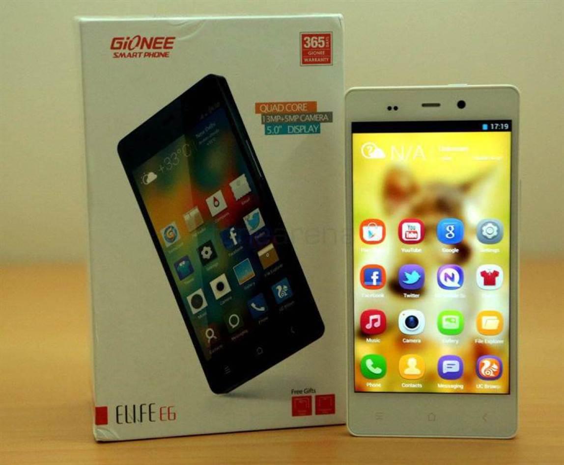 Smartphone com 5mm de espessura da Gionee, recebe certificação na China 1