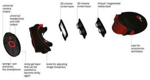Empresa cria óculos de realidade virtual para Smartphones 2