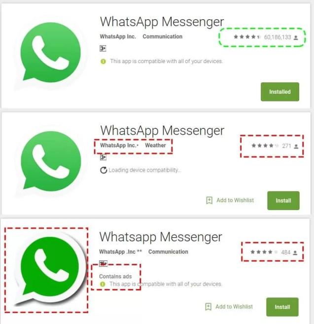 Atenção: Falso WhatsApp na Play Store coloca em causa o controlo de qualidade da Google 3