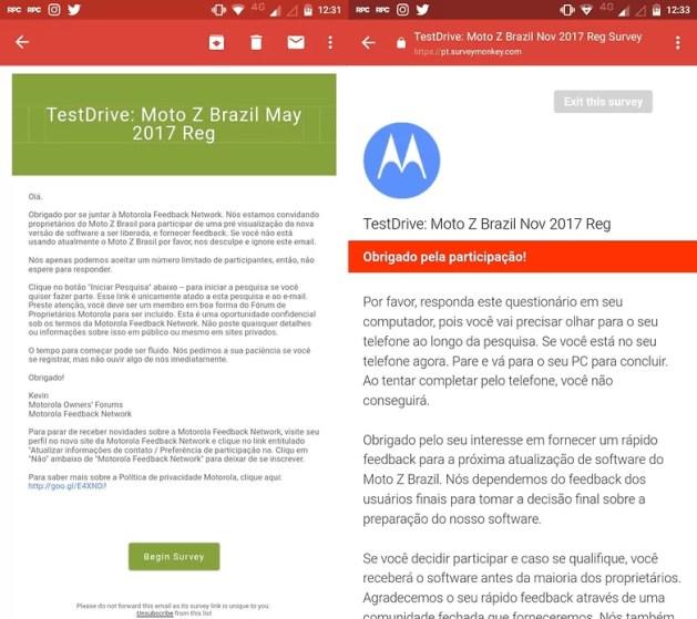 Soak test do Android Oreo para o Moto Z começará em breve no Brasil 2