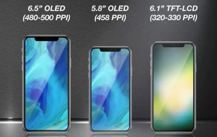 Apple lançará três novos dispositivos estilo iPhone X no próximo ano 1