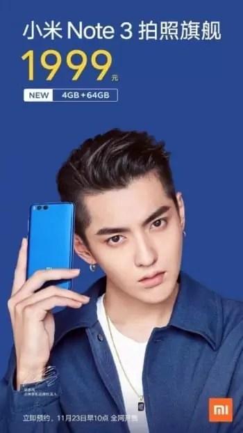 Versão mais barata do Xiaomi Mi Note 3 já está disponível 1